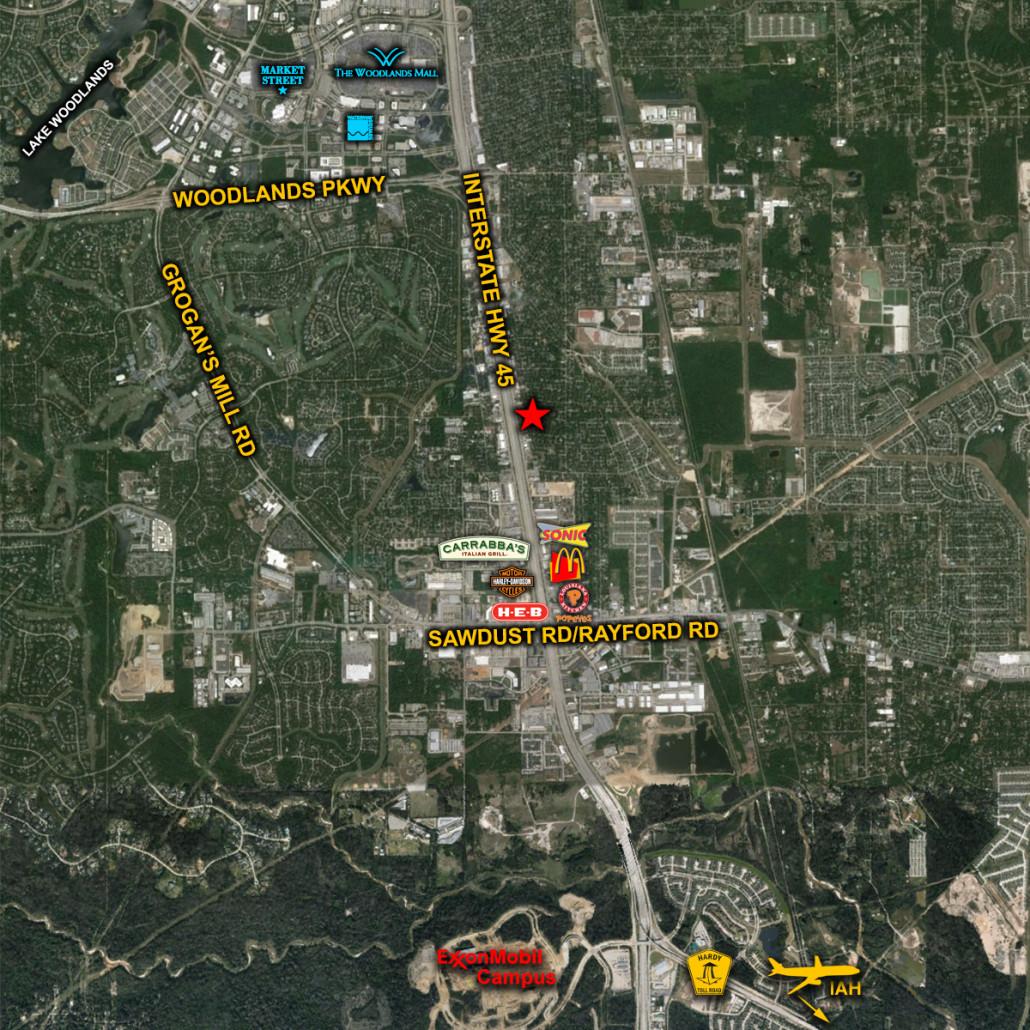 I-45-Woodlands-Aerial
